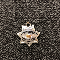 Sterling Replica Badge Pendant